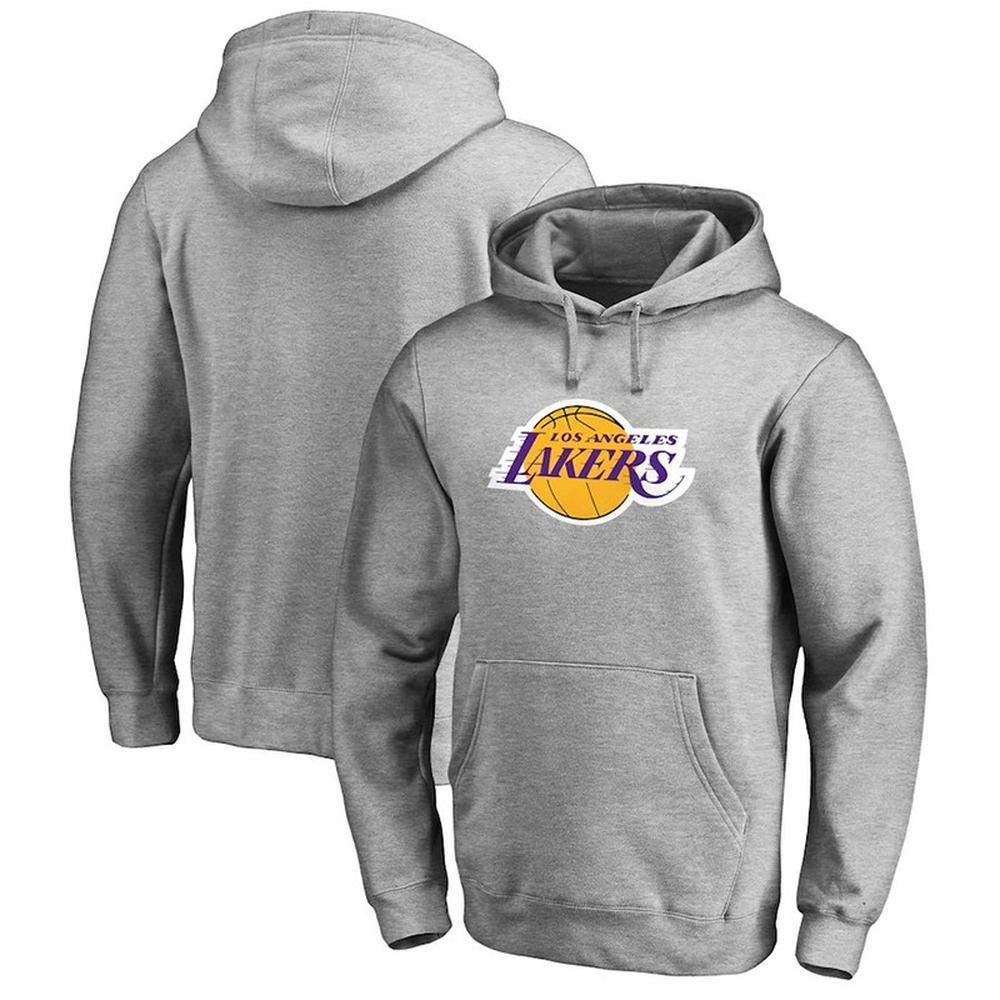 gris XX-grand WSX VêteHommests De Basket-Ball De La NBA Lakers  hauts, VêteHommests De Sport Et De Basket-Ball à Manches Longues Lakers,gris-M