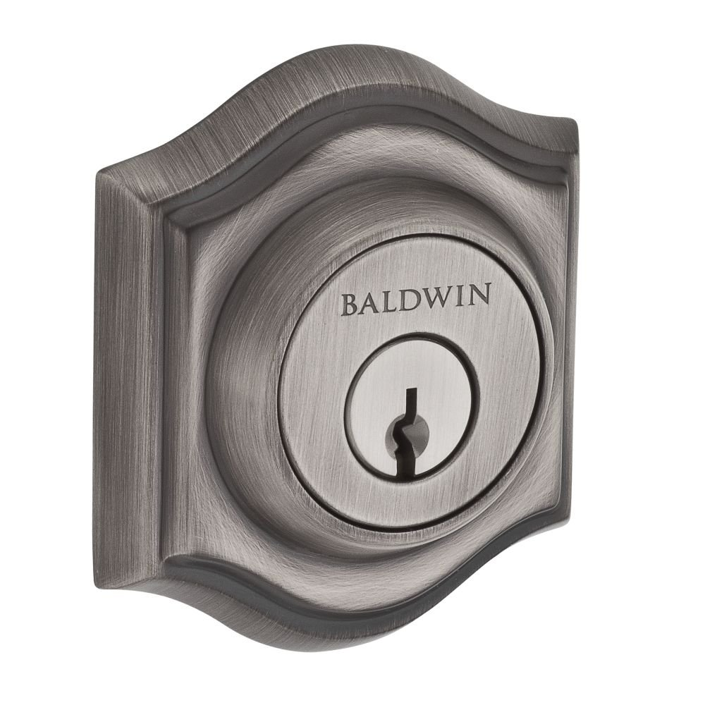 Baldwin SCTAD152 Reserve Single Cylinder Traditional Arch Deadbolt in Matte Antique Nickel Finish