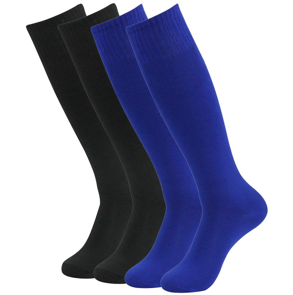 Feelingway SOCKSHOSIERY メンズ B076ZG8ZW2 4 Pairs-black&blue 4 Pairs-black&blue