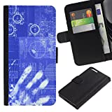 Planetar® Colorful Pattern Flip Wallet Leather Holster Protective Skin Case Cover For Apple (5.5 inches!!!) iPhone 6+ Plus / 6S+ Plus ( Computing Code Technology It Robot Ai )