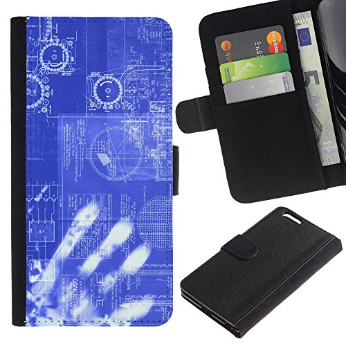 Planetar® Colorful Pattern Flip Wallet Leather Holster Protective Skin Case Cover For Apple (5.5 inches!!!) iPhone 6+ Plus / 6S+ Plus ( Computing Code Technology It Robot Ai ) by Planetar®