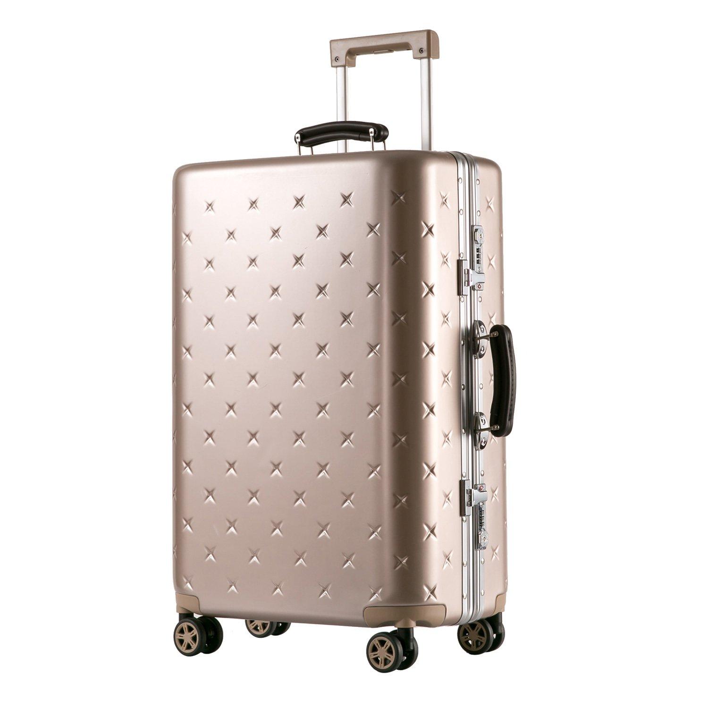 (タノビ)TANOBI スーツケース キャリーケース キャリーバッグ 超軽量 小型 中型 大型 TSAロック搭載 旅行用品 YCL-909 B078JCT5Q1 L|ゴールド ゴールド L