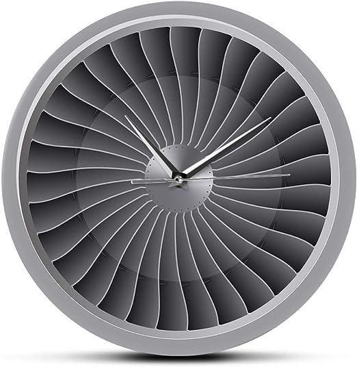 Relojes De Pared Motor A Reacción Turbina Ventilador Aviador Avión ...