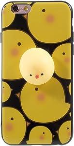 Squishy Cat iPhone 6 / 6S / 7/7 Plus Case, 3D Cute Soft Silicone Cartoon Squishy Cute Cat Healing Stress Reduce Relieve Ball Phone Cover (A iPhone7)