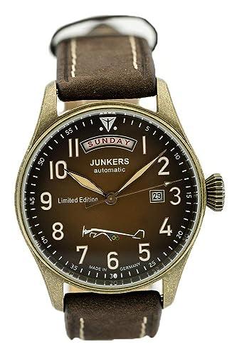Junkers Planeador automático para Hombre Reloj Limited Edition Juegos Olímpicos Berlin 1936 5155 - 5 - Fabricado en Alemania.: Amazon.es: Relojes