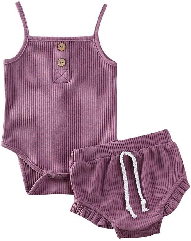 Dubi Infant Baby Girls Sleeveless Rompers OutfitsLace Collar with Hat