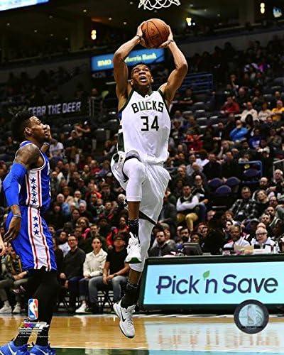 Giannis Antetokounmpo Milwaukee Bucks 2016-17 Action Photo Size: 8 x 10