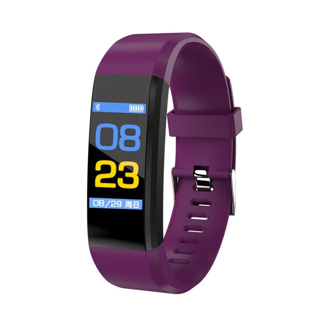 Bellelove Femmes Hommes Intelligent Électronique Poignet Gadgets Smart montre Bande Sommeil Sport Fitness Podomètre Bracelet Montre avec Coloré UI (Violet): ...