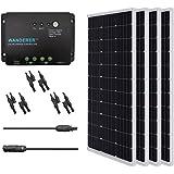 Renogy 400 Watt 12 Volt Monocrystalline Solar Panel, 400W PWM, Bundle Kit with 30A Negative ground Charge Controller