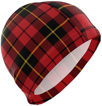 Gorra de baño Wallace Clan Red Tartan para gorras de baño de pelo ...