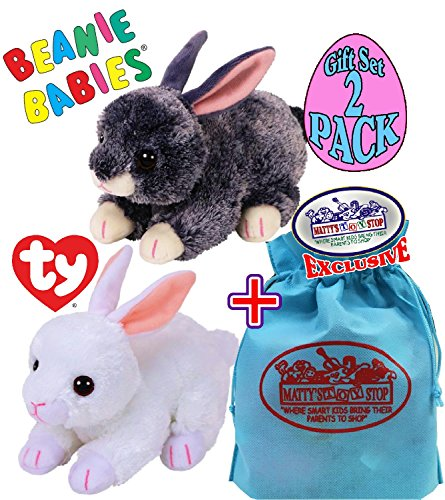 TY Beanie Babies 2018 Easter Bunnies Smokey  & Cotton  Gift