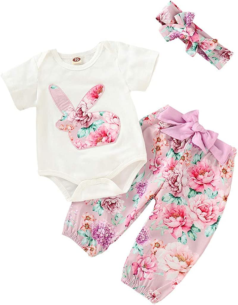 Onefa Toddler Baby Girls Outfits Clothes Set Long Sleeve Solid Ruffles Tops+Pants
