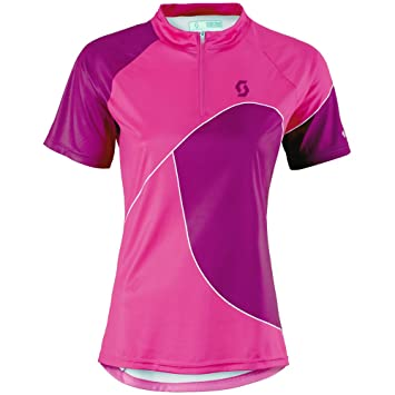 Purple Women's Clothing Scott Trail 50 Short Sleeve Womens Cycling Jersey