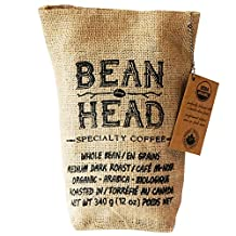 Bean Head #1 Canadian Organic & Mould Free Coffee, Whole Beans