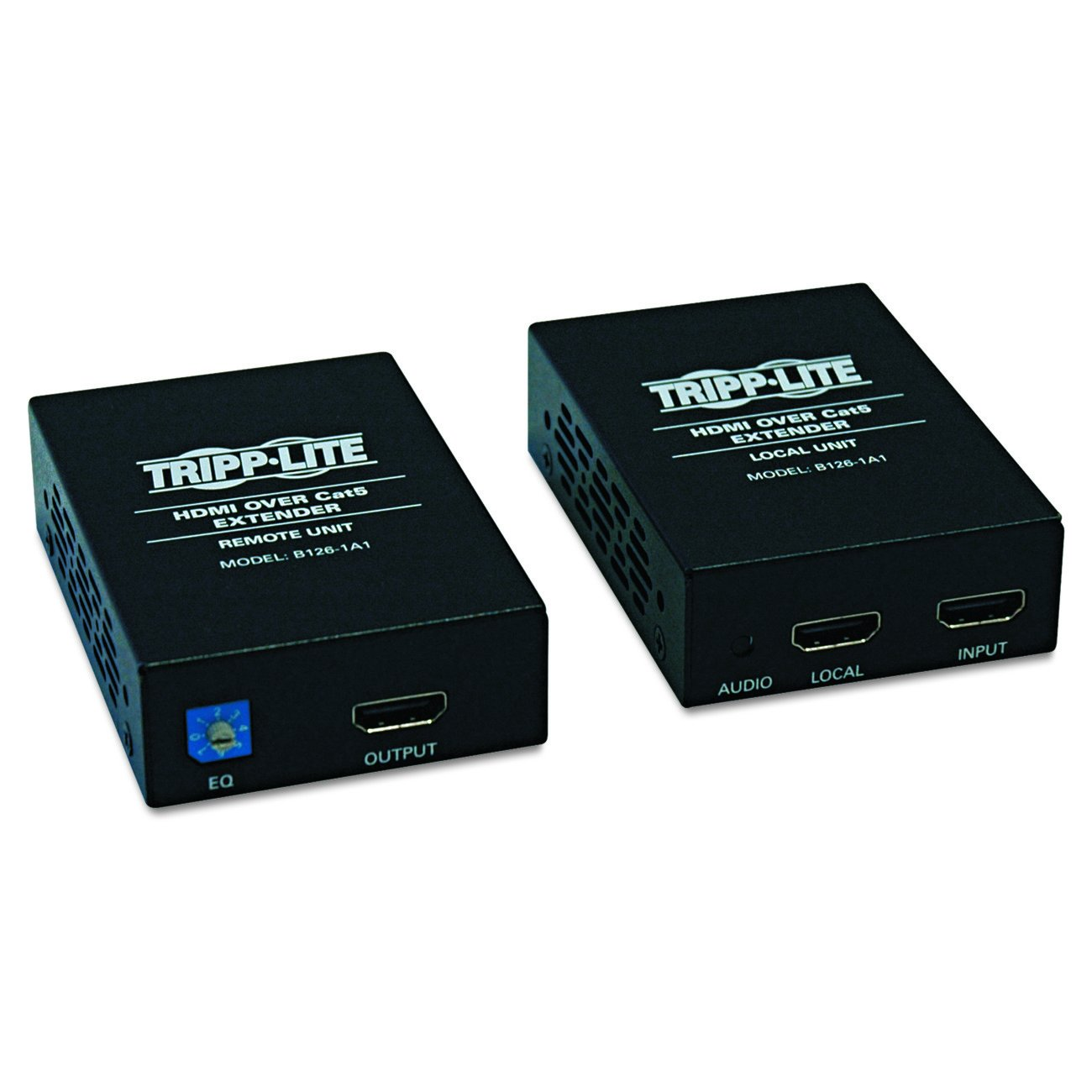 Tripp Lite HDMI Over Cat5 / Cat6 Extender, Extended Range Transmitter and Receiver for Video and Audio 1920x1200 1080p at 60Hz(B126-1A1) by Tripp Lite