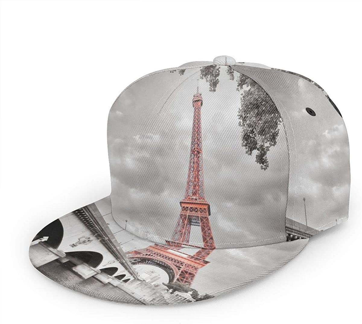 Eiffel Tower Bridge Capital City Lightweight Unisex Baseball Caps Adjustable Breathable Sun Hat for Sport Outdoor Black