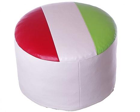 Sedile cuscino seduta sgabello rotondo italia arte in pelle verde