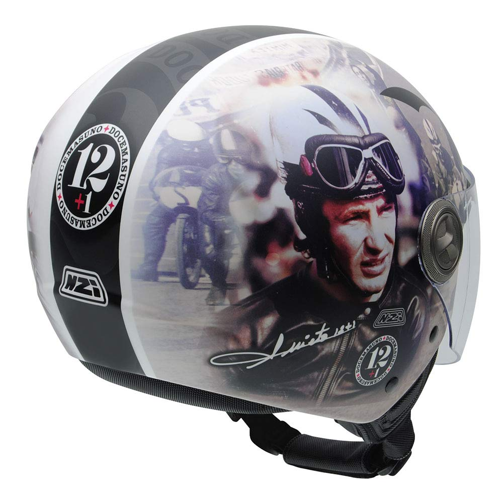Amazon.es: NZI 050332G909 Helix IV Angel Nieto 12+1 Ran, Casco de Moto, Talla 60-61 (XL)