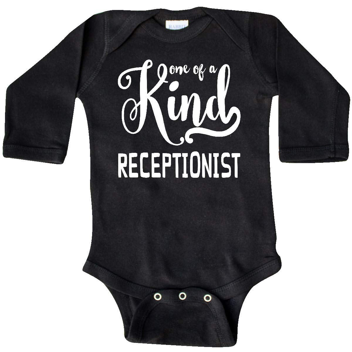 inktastic Gift for Receptionist 1 of a Kind Receptionist Long Sleeve Creeper