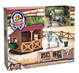 Sunny Days Entertainment Blue Ribbon Champions 1/32 Arabian Horse Twin Stable Toy