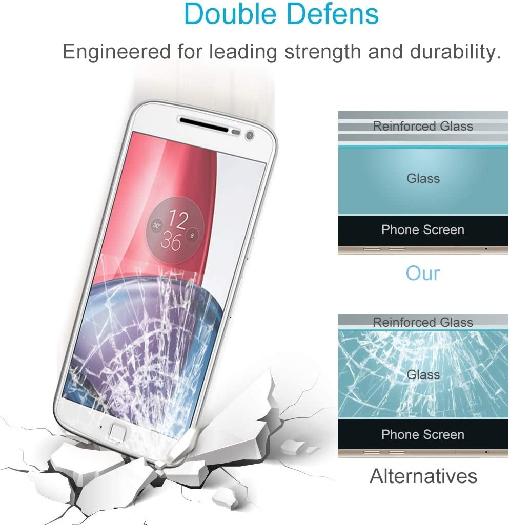 LGYD for 50 PCS for Motorola Moto G4 Plus 0.3mm 9H Surface Hardness 2.5D Explosion-Proof Non-Full Screen Tempered Glass Screen Film No Retail Package
