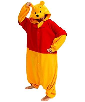 Lazutom Unisex Adult Animal Cosplay Costume Pyjamas Onesie Sleepwear for Christmas Gift (Winnie Pooh,