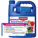 BioAdvanced 701262 All-in-One Rose and Flower Care Fertilizer, Insect Killer & Disease Control, 64-Ounce