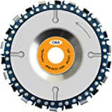 """OBA Grinder Wood Carving Disc for 4"""" or 4-1/2' Angle Grinders, Chain Disc Double Saw Teeth Anti-Kickback Grinder Saw…"""