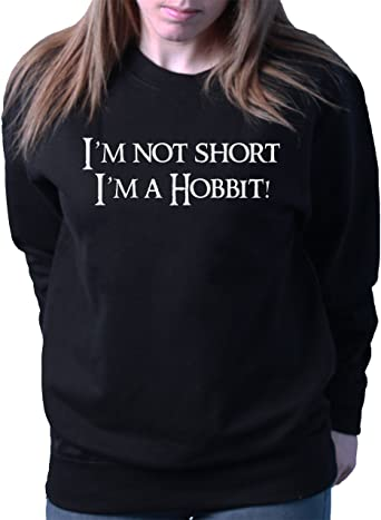 I/'m A Hobbit HOODIE JUMPER SWEATSHIRT unisex FUNNY GIFT HOBBIT I/'m Not Short