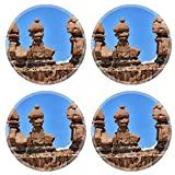 MSD Round Coasters Non-Slip Natural Rubber Desk Coasters design 26552891 Three Sisters Hoodoos Goblin Valley State Park Rock Canyon San Rafael Desert Utah USA Southwest