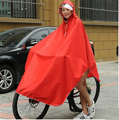 Bike Cycling Raincoat Rain Cape Poncho Double-Layer Waterproof Outdoor Hiking