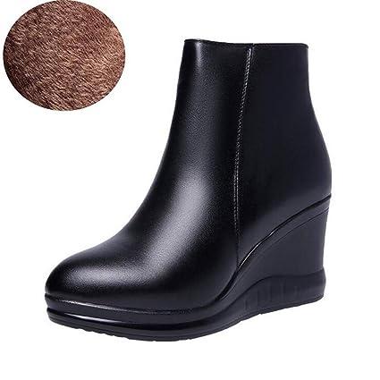 ac9e9483b4542 Amazon.com: Hy Women's Booties,Fall/Winter Comfort Flat Wedge Heels ...