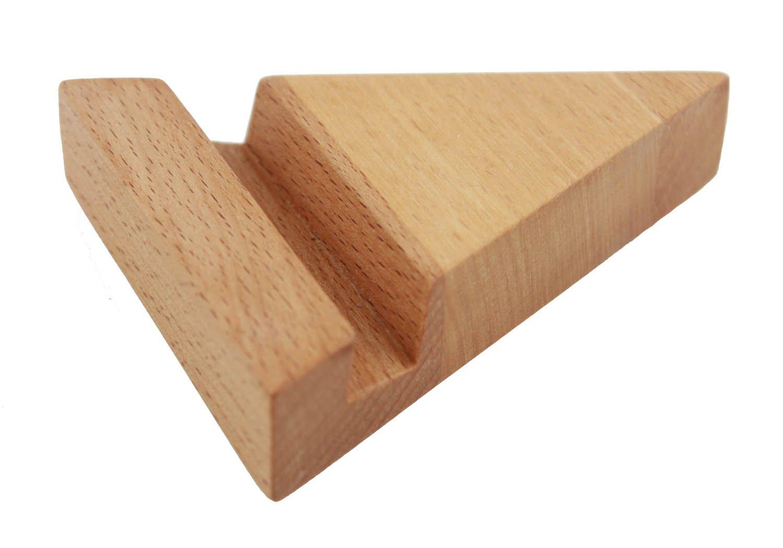 WoodBi | Visitenkartenständer aus Buche | Visitenkartenhalter aus Holz | Auch als Handyständer verwendbar
