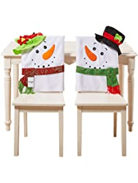 christmas decorations santa claus hat chair back covers set of 2 slipcovers christmas