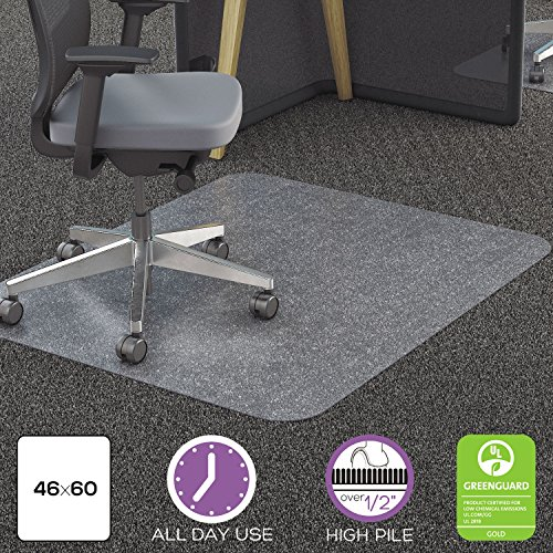 DEFCM11442FPC - Clear Polycarbonate All Day Use Chair Mat for All Pile Carpet by Deflect-O
