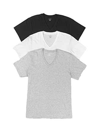 42c027f1 Calvin Klein Men`s Slim Fit V-Neck T-Shirts, 3-Pack at Amazon Men's ...