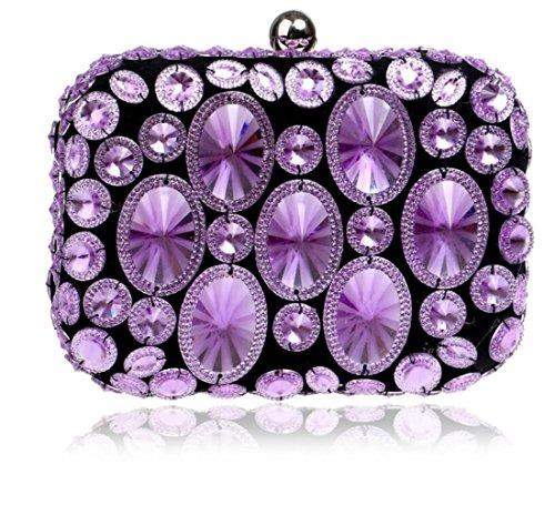 Soirée Purple Nuptiale Femmes Louhh Cadeau Épaule Sac Mariage Diamante Prom Dames De Clubs À Glitter Pour Party Pochette Main HBx4wXq