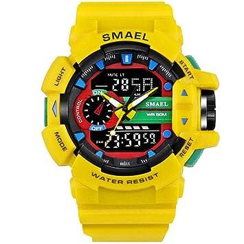 WULIFANG Deportes Y Ocio Digital Led Watch Military Watch Hombres Reloj Reloj Reloj De Hombre Amarillo China: Amazon.es: Deportes y aire libre