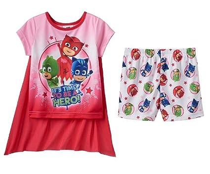 Toddler Girl PJ Masks Catboy, Gekko & Owlette 3-pc Cape Pajama Set (