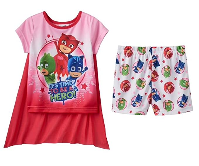 0bf208b661ce1 Image Unavailable. Image not available for. Color: Toddler Girl PJ Masks  Catboy, Gekko & Owlette 3-pc Cape Pajama Set (