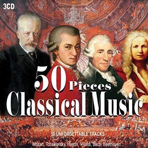 - 3CD 50 Pieces Classical Music, Musica Classica, Beethoven, Vivaldi, Mozart, Nocturnes, Piano Sonata, Symphony, Il Barbiere Di Siviglia, Four Season