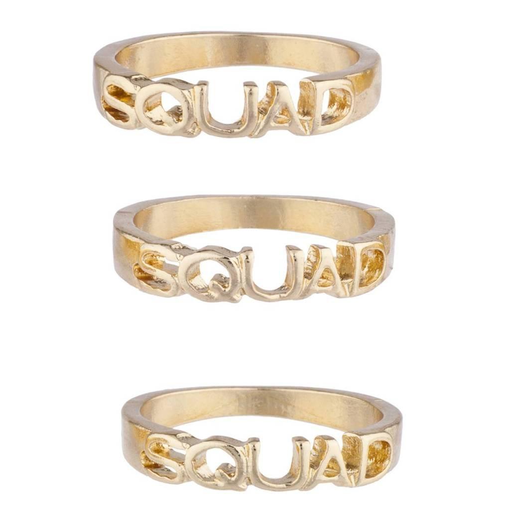 Lux Accessories dorato anello Squad Best Friends Forever, pezzi R272050-2E-R307