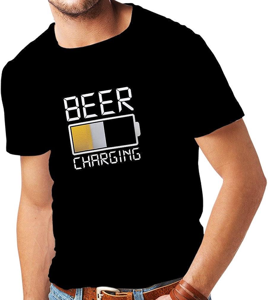 lepni.me Camisetas Hombre Carga de Cerveza, Citas Divertidas, Humor de Bar para Amantes de la Cerveza