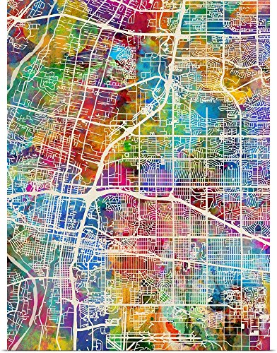 greatBIGcanvas Poster Print entitled Albuquerque New Mexico City Street Map by Michael Tompsett (Albuquerque New Mexico Street)
