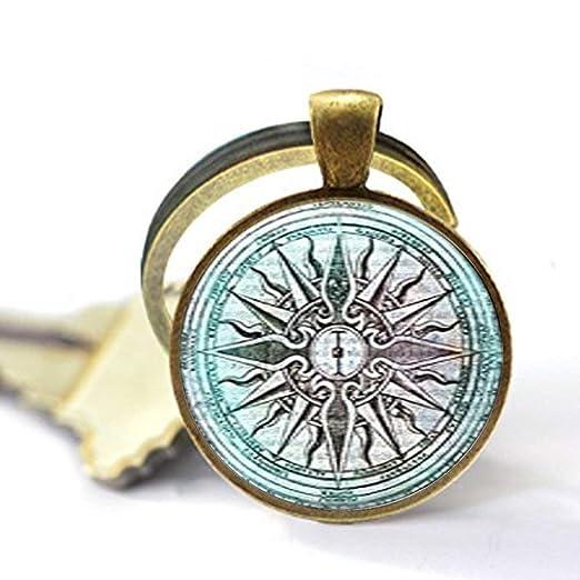 Llavero de cristal con diseño de la antigua Grecia en la ...