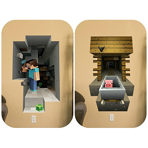 Awesome Minecraft Vinyl Wall Graphics Mining 2 Pack