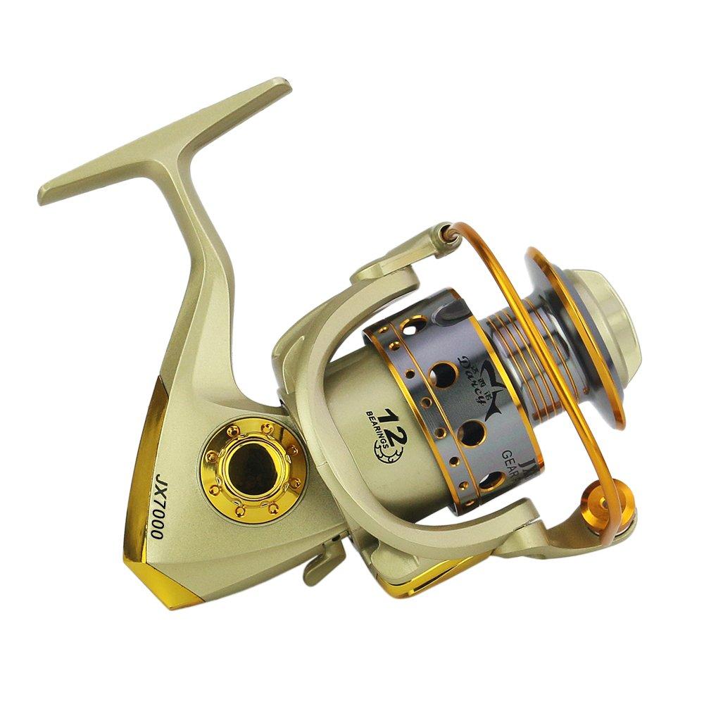 Lixada 12BB Carretes de Pesca Izquierda//Derecha Intercambiables Mango Plegable Pesca Carrete Spinning
