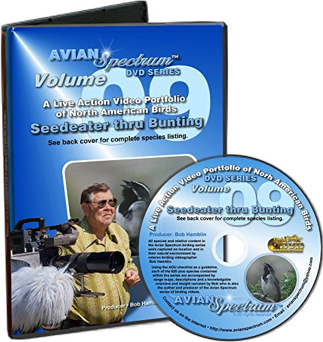 Bird Identification DVD Volume 09: Seedeater thru Bunting - Live Video of North American Birds with Flight Range Maps, Pictures & Songs - Join us in the Field with Bird Watching (09 Map)