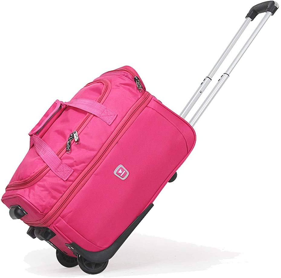 Color : Pink2, Size : 563134 Oxford Travel Bags Large Capacity Trolley Case Carry On Hand Luggage Super Lightweight Durable Hold Luggage Suitcases Tingting
