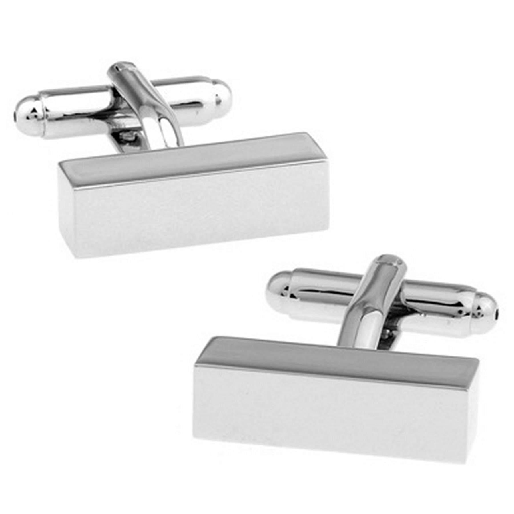 RXBC2011 Men's Rectangle Style French Shirts Cufflinks 1 Pair Set